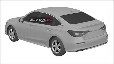 Traseira do novo Honda Civic mostra o retorno às linhas conservadoras, com lanternas menores.