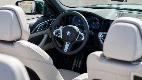 Interior do Série 4 Conversível segue o padrão do do BMW Série 4 Coupé.