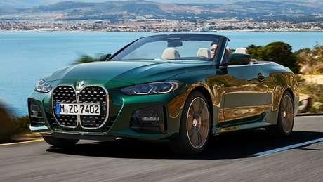 Novo BMW Série 4 Conversível: grade radical com elementos cromados e muita esportividade.
