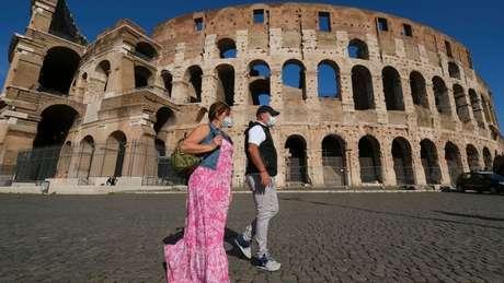 Centro de Roma está muito mais vazio por causa da pandemia