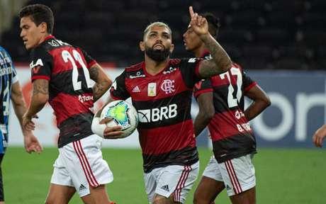 Trio de atacantes tem dado a conta do recado diante das metas adversárias (Foto: Alexandre Vidal/Flamengo)