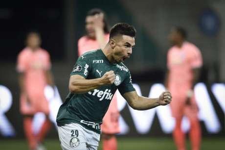 Willian comemora o gol que abriu o placar diante do Bolívar (Foto: Divulgação/Conmebol)