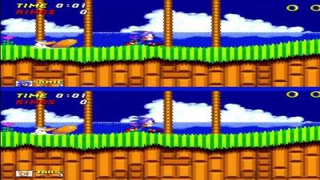 Chega de fazer o primo mais novo fingir que tá jogando: Sonic 2 permitia multiplayer.