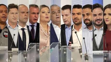 Os candidatos à Prefeitura de São Paulo no primeiro debate na TV