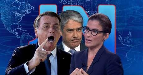 Bolsonaro, Bonner e Renata: críticas, cobranças e ironias sem fim