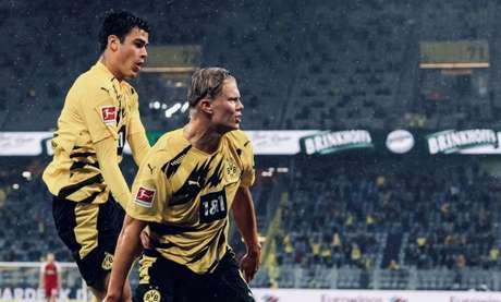 Dortmund garante vitória com dois gols de Haaland - Divulgação Borussia Dortmund