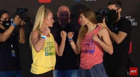 Holly Holm e Irene Aldana vão fazer a luta principal do UFC on ESPN 16 (Foto: Reprodução/YouTube/UFC)