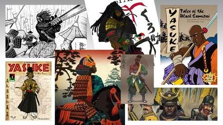 O lendário samurai negro Yasuke já foi retratado em vários livros e mangás