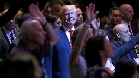 Donald Trump recebeu amplo apoio evangélico nas eleições de 2016, que ele vem conseguindo manter, apesar de diversas polêmicas