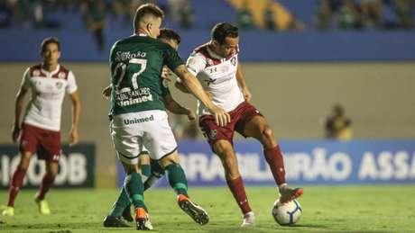 Último duelo entre Goiás e Fluminense em Goiânia aconteceu no Brasileirão de 2019, e o Esmeraldino levou a melhor (LUCAS MERÇON / FLUMINENSE F.C.)