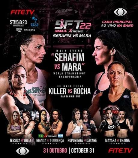 SFT 22, com terceira edição do Outubro Rosa, terá disputa de título na luta principal (Foto: Divulgação/SFT)