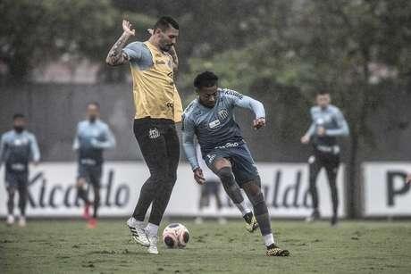 Além de Marinho e Alison, Lucas Veríssimo também não treinou nesta terça (06) (Foto: Ivan Storti/Santos FC)