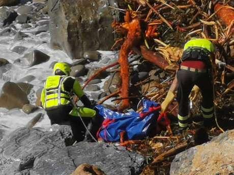 Resgate de corpo no litoral da Ligúria, em 5 de outubro