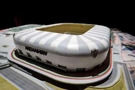 A Arena MRV vai destinar quase 10% da sua capacidade para a venda de cadeiras cativas-(Bruno Cantini/Atlético-MG)