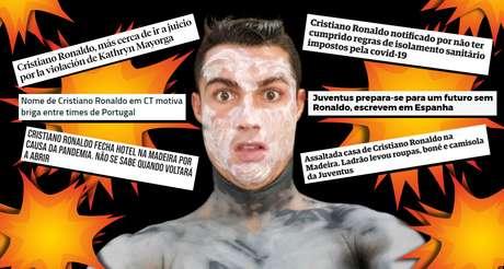 Cristiano Ronaldo em seu ritual de beleza: a quantidade de manchetes negativas espanta qualquer um