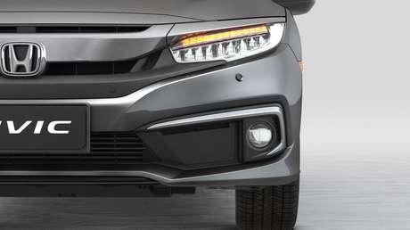 Novo farol Honda Civic EXL 2021.
