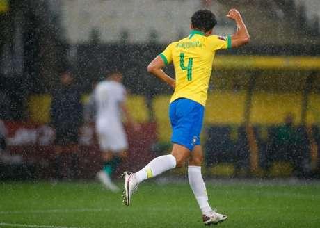Marquinhos abriu caminho para a goleada do Brasil em local que se sente em casa (Foto: Lucas Figueiredo/CBF)