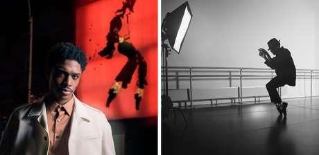 """""""Vida longa ao Rei"""", escreveu Ephraim Sykes ao postar essa foto na qual aparece ensaiando como Michael Jackson"""