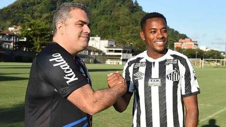 Presidente do Santos, Orlando Rollo, e Robinho