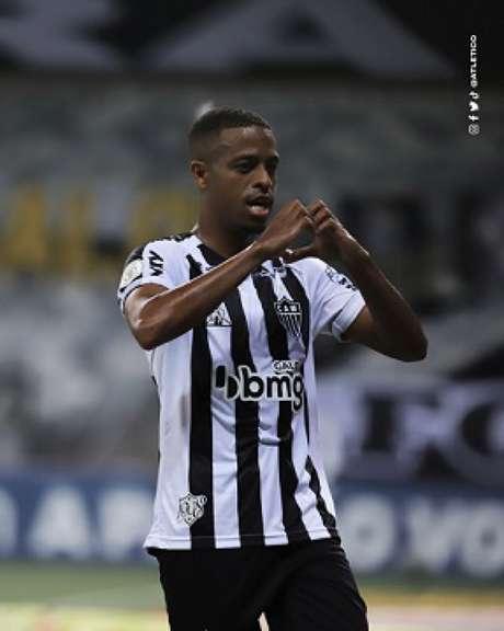 Keno marcou um gol e ainda deu duas assistências no duelo contra o Goiás-(Bruno Cantini/Agência Galo)