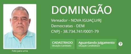 Domingão deixou de concorrer para a câmara municipal pelo Democratas (DEM) e optou pelo Partido Humanista da Solidariedade (PHS)