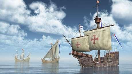 Em sua quarta viagem à América, Colombo ficou encalhado na Jamaica após um naufrágio e a deterioração de seus barcos