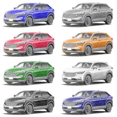 Mr. Kuruma fez o carro em todas as cores em que é vendido no Japão, mas nem todas vêm para o Brasil.