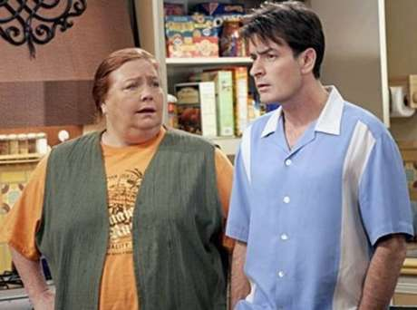 A atriz Conchata Ferrell, a Berta da série 'Two and a Half Men'.