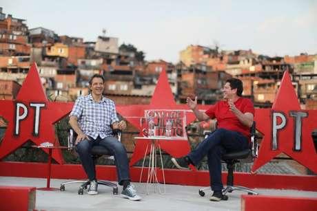 Ex-prefeito de São Paulo Fernando Haddad e Jilmar Tatto,candidato do PT às eleições municipais de 2020