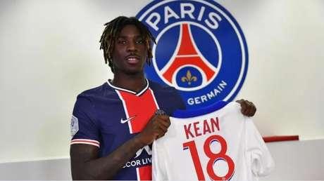 PSG pode comprar Kean por cerca de R$ 129 milhões na próxima temporada (Divulgação/Twitter do PSG)
