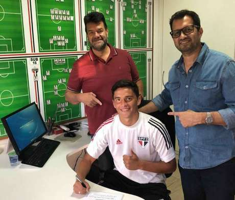 Pablo é um dos jovens com grande potencial da base do São Paulo (Divulgação)
