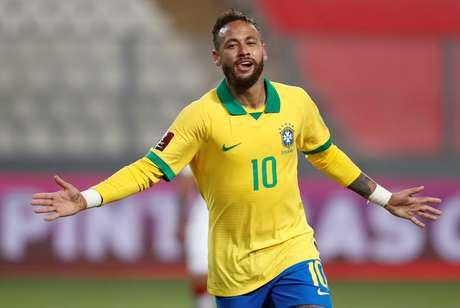 Neymar durante partida da seleção brasileira contra o Peru, em Lima 13/10/2020 Paolo Aguilar/Pool via REUTERS