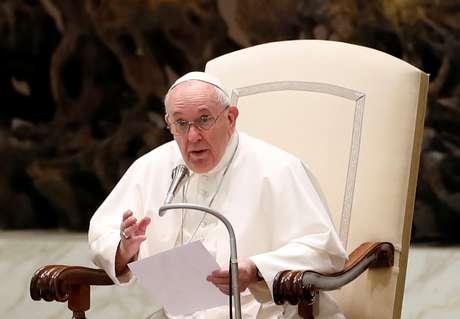 Papa Francisco durante audiência semanal no Vaticano 14/10/2020 REUTERS/Yara Nardi