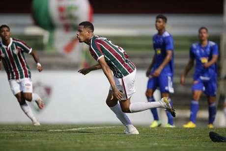O Flu dominou a Raposa no duelo pelo Brasileiro Sub-20. A equipe carioca é a líder da competição com 15 pontos em seis jogos-(Gilvan de Souza/Fluminense)