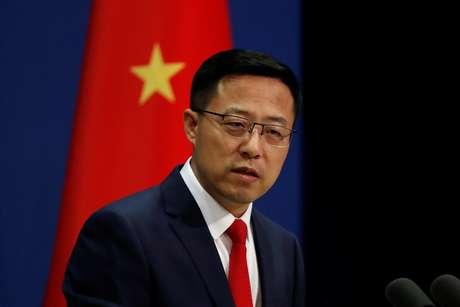 Porta-voz do Ministério das Relações Exteriores da China Zhao Lijian durante entrevista coletiva em Pequim 10/09/2020 REUTERS/Carlos Garcia Rawlins