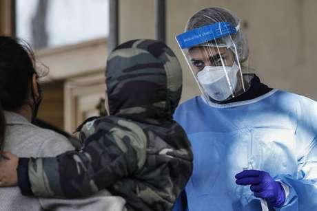 Testagem para coronavírus em Roma, capital da Itália