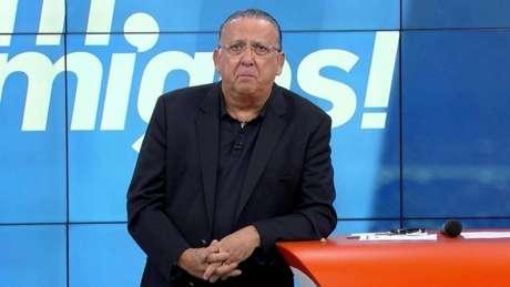 Galvão não gostou da saída de Luxa do Palmeiras (Reprodução/SporTV)