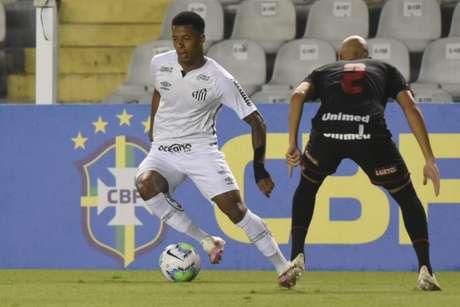 Santos jogou mal e viu cair uma sequência de 12 jogs sem derrotas (Foto: Reprodução/Twitter Santos)
