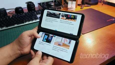 LG G8X ThinQ (Imagem: Paulo Higa/Tecnoblog)