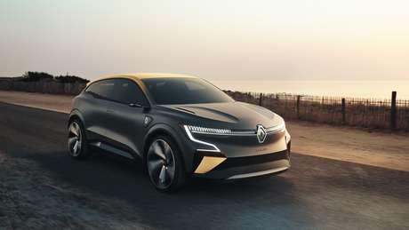 Renault Mégane eVision reinventa o segmento de hatchs compactos, pois traz referências de cupês e SUVs.