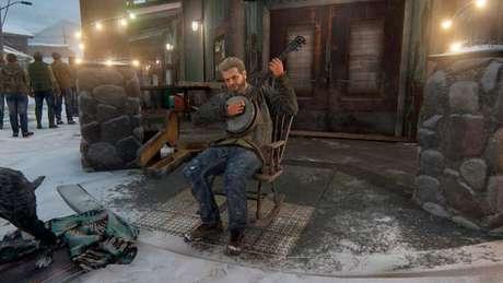 Compositor Gustavo Santaolalla no game (Imagem: Reprodução/Naughty Dog)
