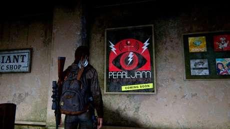 Easter egg da banda Pearl Jam no jogo (Imagem: Reprodução/Naughty Dog)