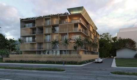 Escritório internacional Perkins&Will projetou prédio com brises de bambu em praia de Ubatuba