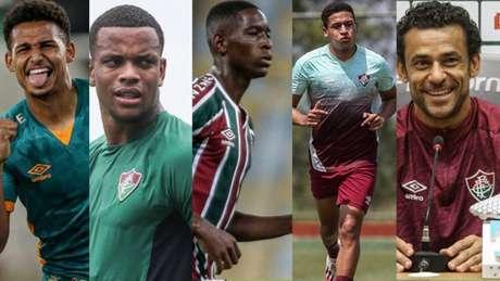 Felippe Cardoso, Caio Paulista, Luiz Henrique, Pacheco e Fred são alternativas para Odair no ataque do Fluminense (Foto: LUCAS MERÇON / FLUMINENSE F.C.)