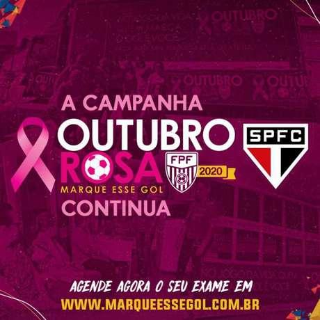 Por meio do projeto, é possível realizar exames e mamografia (Foto: Reprodução/Twitter @SaoPauloFC)