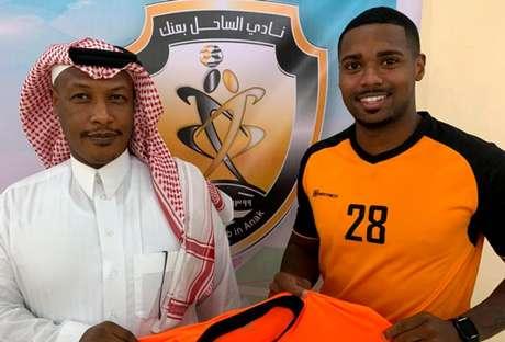 Patrick Carvalho assinou com o Al Sahel, da Arábie Saudita (Foto: Divulgação/Al Sahel)
