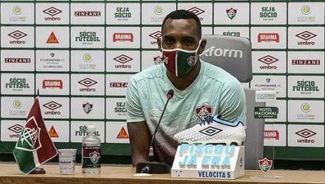 Digão, durante entrevista coletiva no CT Carlos Castilho (Foto: Lucas Merçon/Fluminense FC)