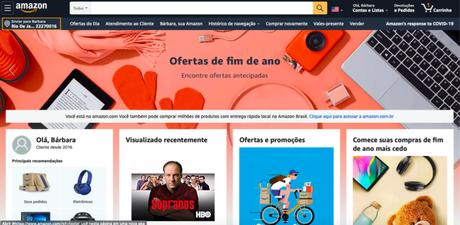 amazon Estados Unidos (Imagem:Reprodução/Amazon)