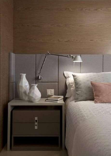 11. Modelo de luminária de cabeceira articulada para decoração de quarto moderno – Foto: Pinterest
