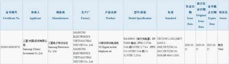 Homologação do Samsung Galaxy S21 pela 3C (Imagem: Reprodução/GSMArena)